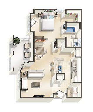 1D Floor Plan
