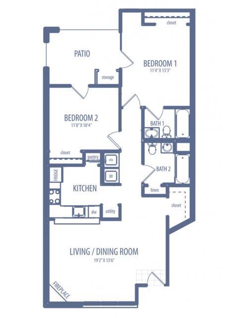 Azalea - B1 Floor plan