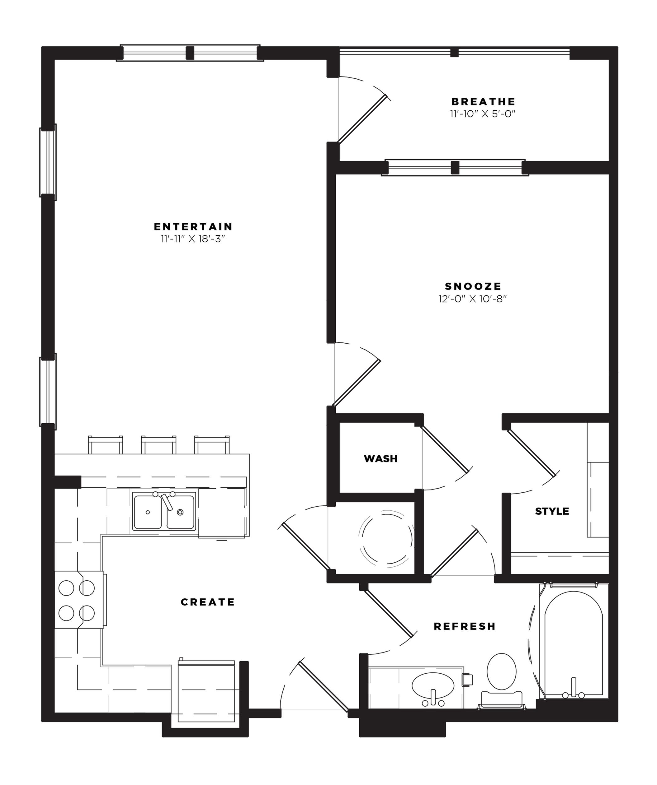 A1 Alt 2 Floor Plan