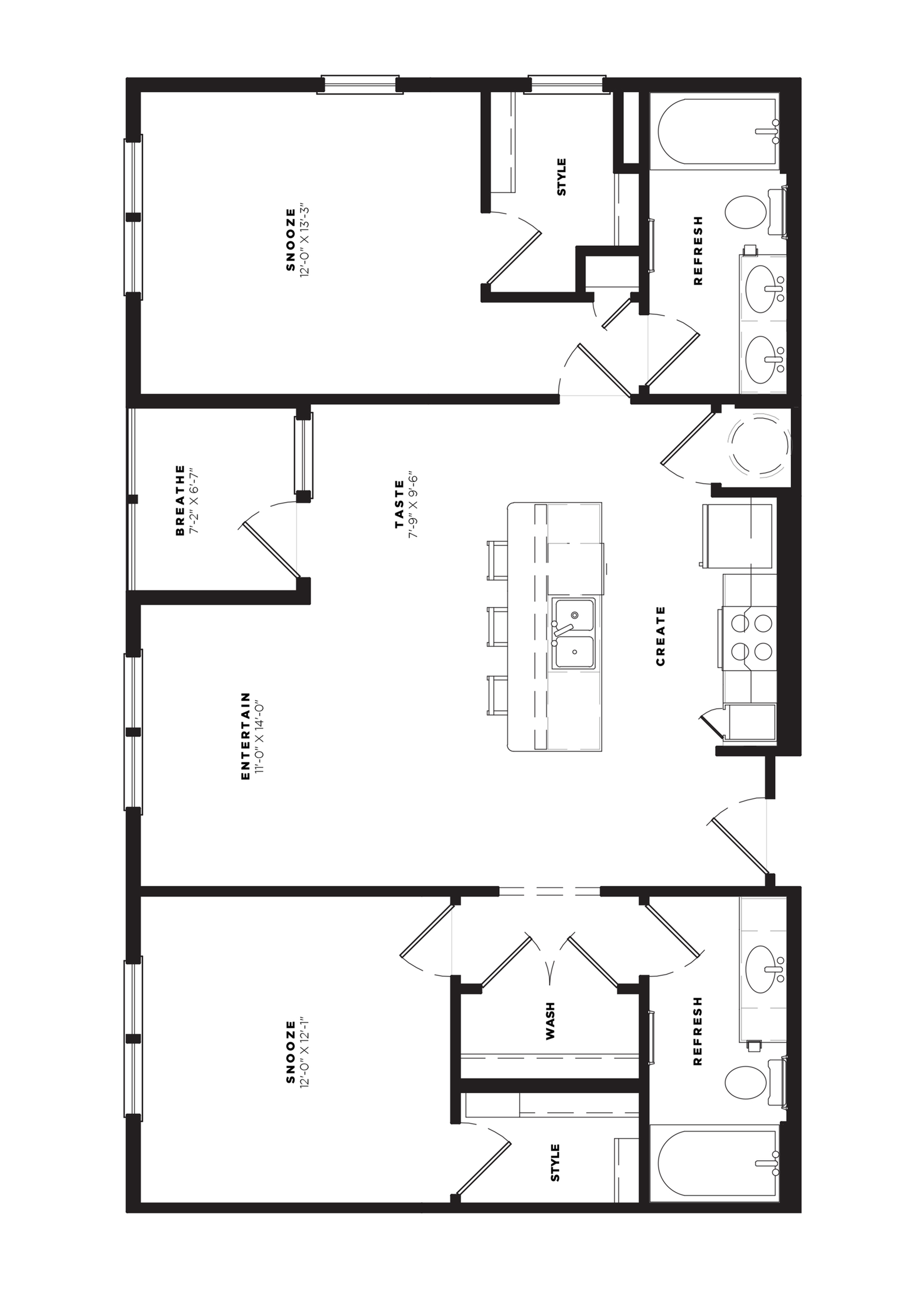 B2 Alt 1 Floor Plan