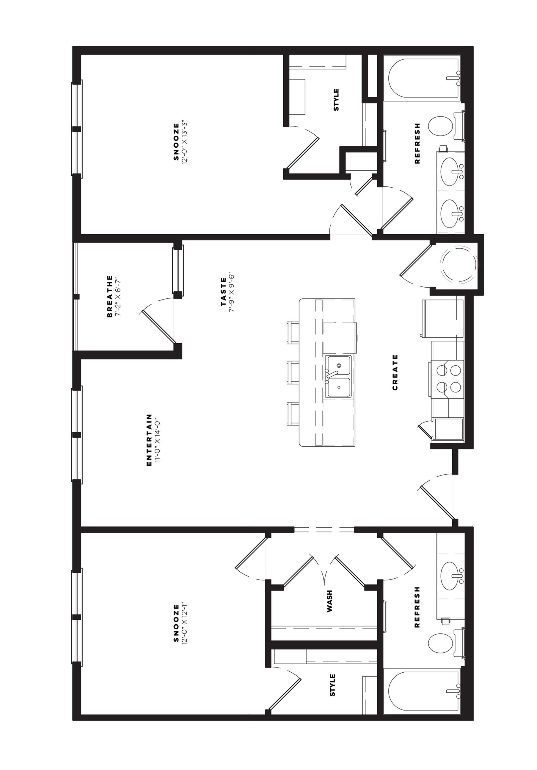B2 Alt 4 Floor Plan