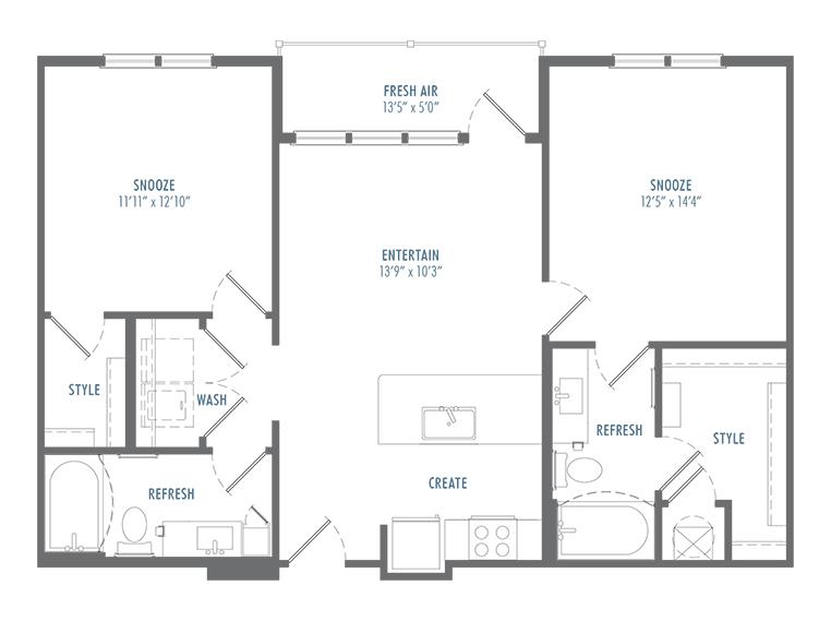 B1 Alt 2 Floor Plan
