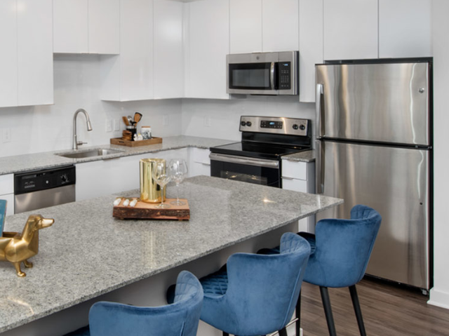 furnished kitchen in apartment