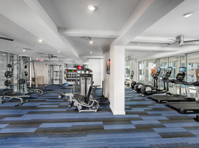 furnished fitness center with equipment