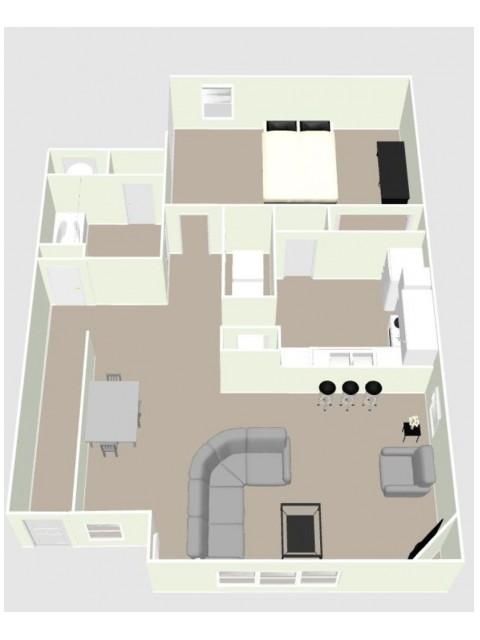 A1 - 1 Bedroom Floor Plan Image
