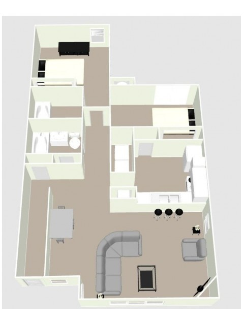 B1 - 2 Bedroom Floor Plan Image