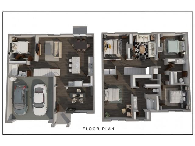floor plan drawing for Hayden