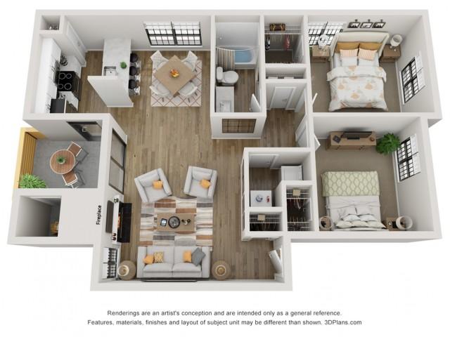 three dimensional floor plan drawing
