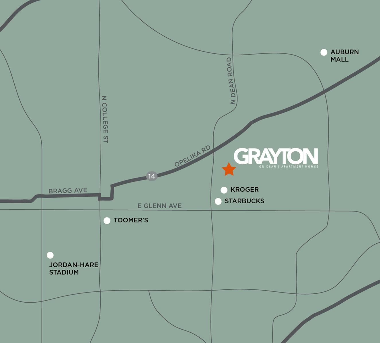 colroful neighborhood map with markers