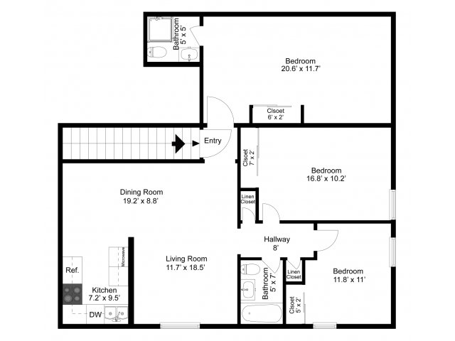 3 bed 2 bath apartment in state college pa lexington - 3 bedroom apartments state college pa ...