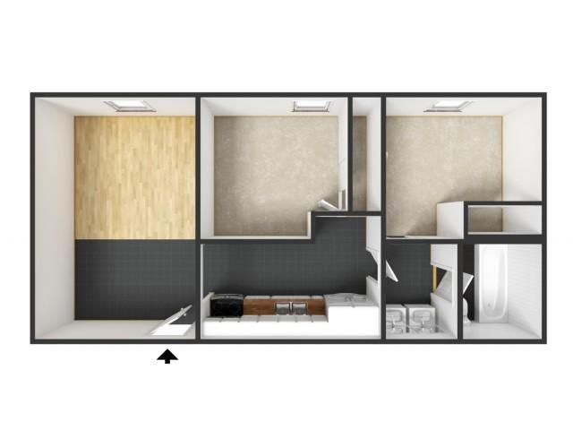Unfurnished 2 Bedroom