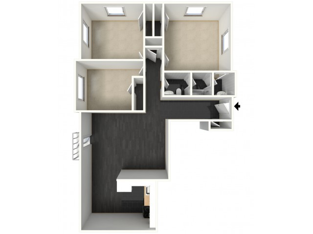 Large 3 Bedroom