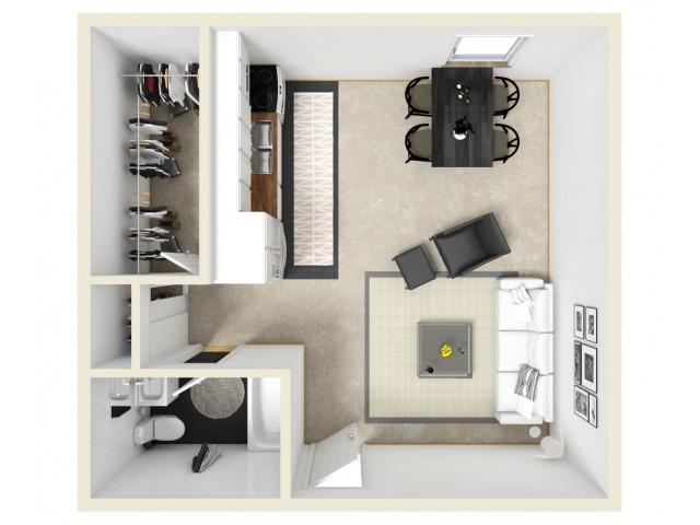Efficiency Furnished Floor Plan
