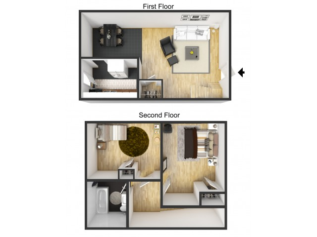 2 Bedroom Furnished