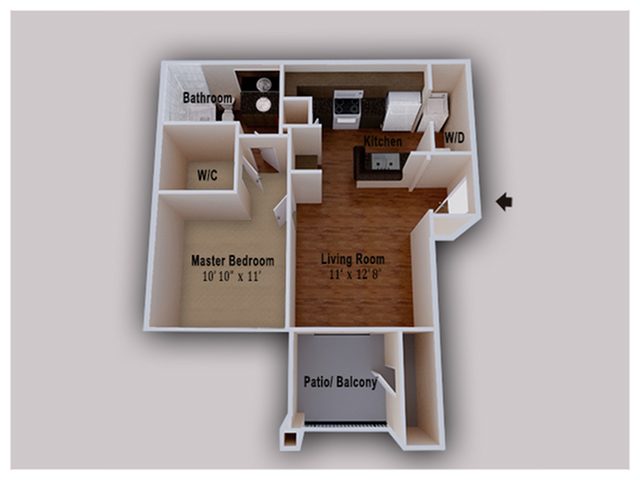 Prime 1 Bed 1 Bath Apartment In Conroe Tx Heritage At Hooper Interior Design Ideas Pimpapslepicentreinfo