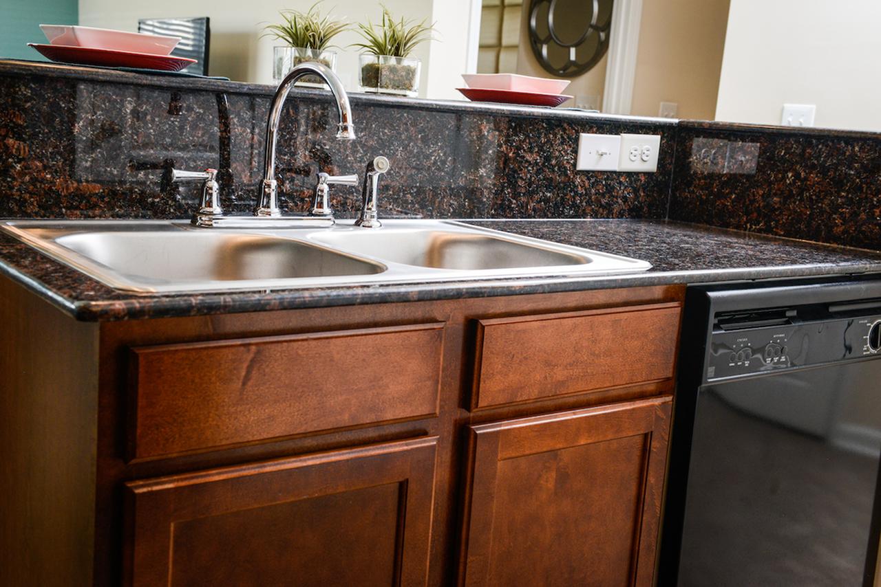 Built-in microwave, dishwasher & disposal.