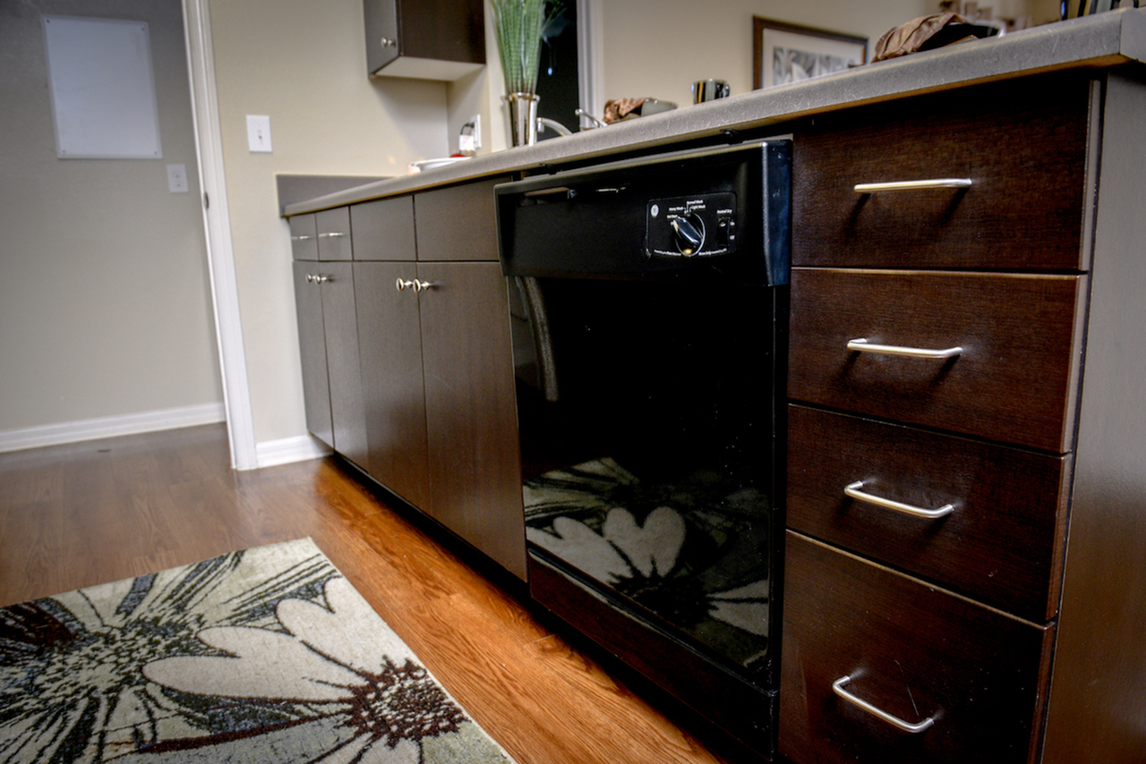 Over-sized cabinets.