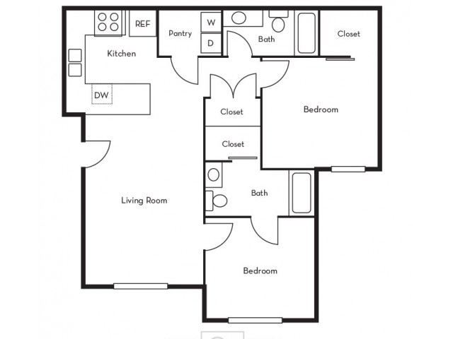 Smaller 2 Bedroom