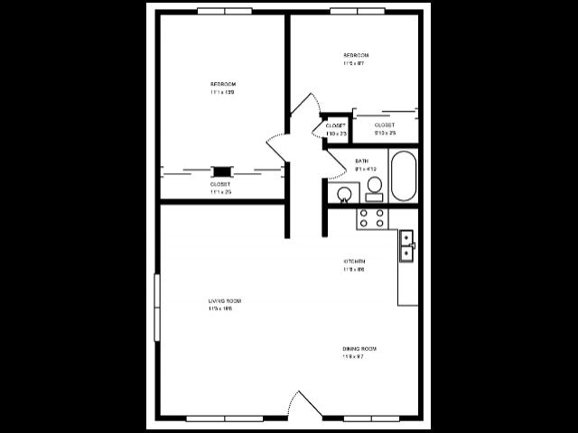Partial Open Floor Plan