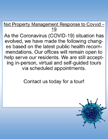 Nxt Property Management Response to COVID-19