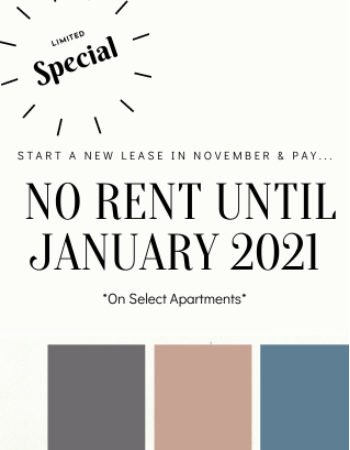 Start Your New Lease in November!